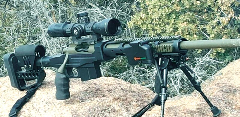 SafeShoot Device attached to a rifle